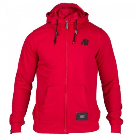 CLASSIC ZIPPED HOODIE RED