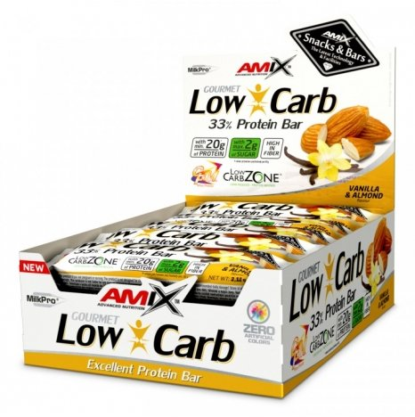 AMIX LOW CARB Vanilla & Almond 33% Proteine