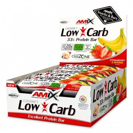 AMIX LOW CARB Strawberry & Banana 33% Protein