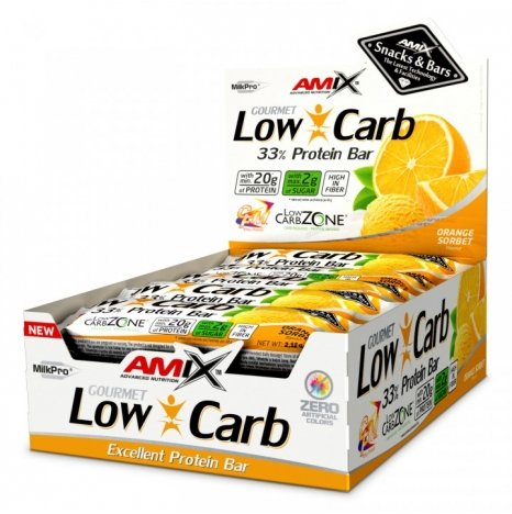 AMIX LOW CARB Orange Sorbet 33% Proteine