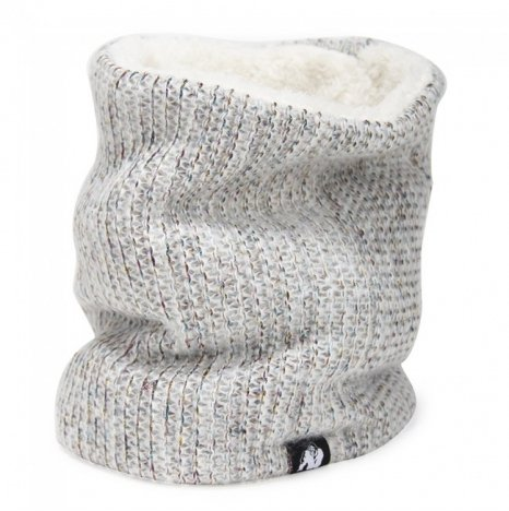 BELLEVUE NECK WARMER - WHITE/GRAY