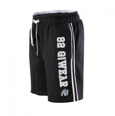 82 SWEAT SHORTS - BLACK/GRAY (AKCIÓS)