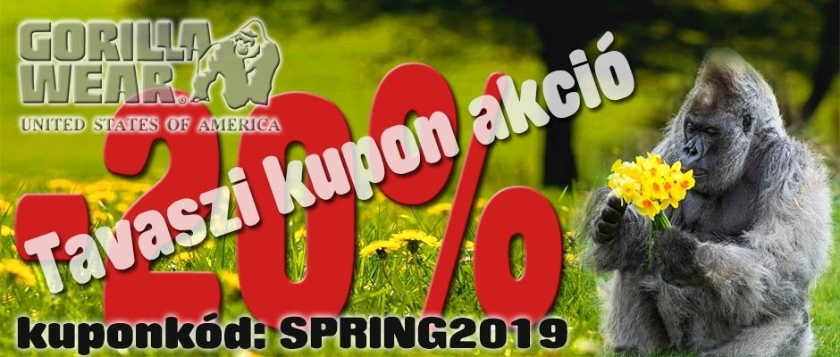Tavaszi Gorilla Wear kupon akció -20%