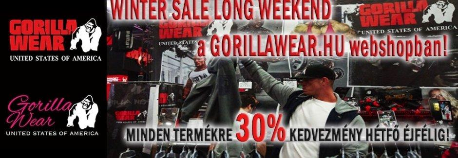 30%-os hosszú hétvége akció