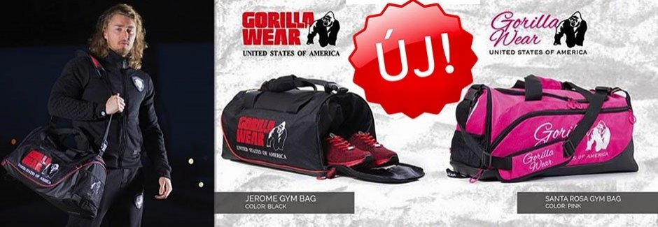 Új Gorilla Wear táskák!